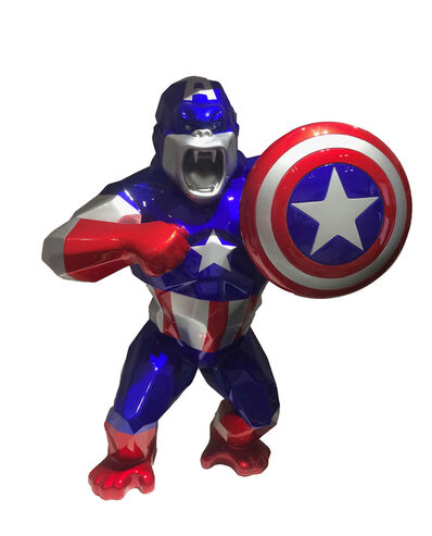 Richard Orlinski, 'Kong Captain America', 2019