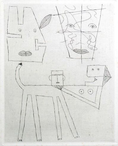 Victor Brauner, 'Women and Dog', ca. 1960s