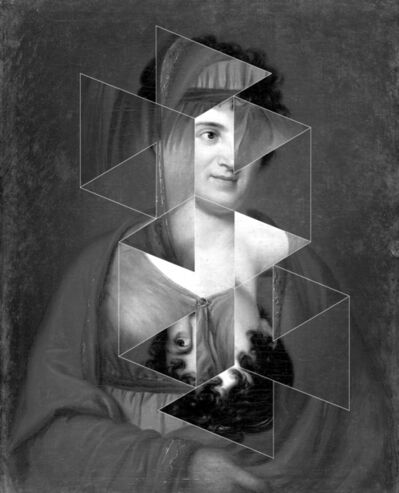 Andrea Geyer, 'Constellations (Henriette Herz after Georg Friedrich Schöner)', 2018
