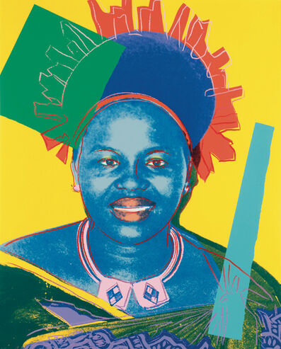 Andy Warhol, 'Reigning Queens, Queen Ntombi Twala of Swaziland -unique-', 1985