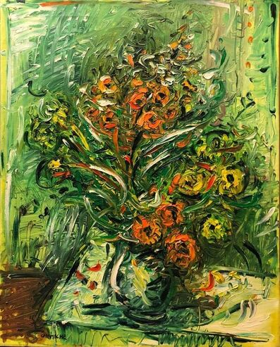 George Chemeche, 'Expressionist French Israeli Floral Painting Chelsea Hotel Modernist', 1960-1969