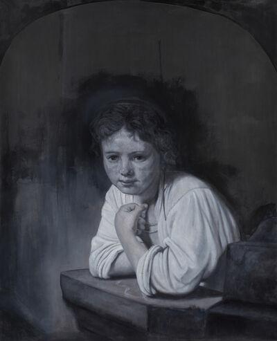 Martin La Rosa, 'Girl at a window. Cita con Rembrandt - 2da versión', 2020
