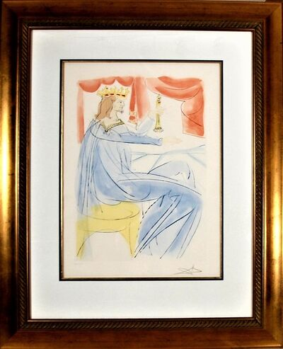 """Salvador Dalí, ' """"King Salomon"""" from the suite """"Our Historical Heritage""""', 1975"""