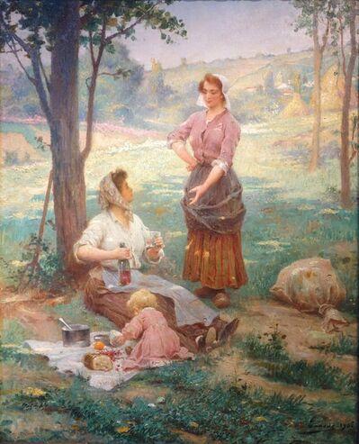 Adrien Henri Tanoux, 'The garden lunch', 1906