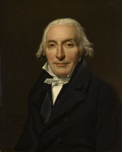 Jacques-Louis David, 'Portrait of Jean-Pierre Delahaye', 1815