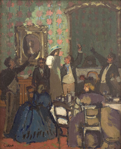 Walter Sickert, 'The Toast 'Trelawny of the Wells' ', 1898