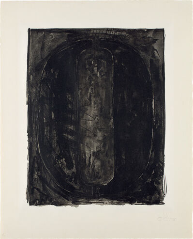 Jasper Johns, 'Figure 0, from Black Numeral Series', 1968