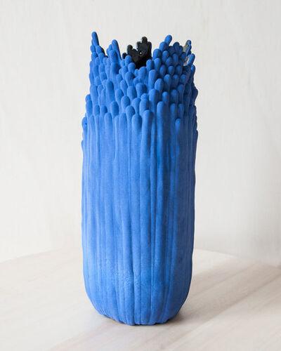 Cécile Bichon, 'Moyen Vase Blue - Noir', 2019