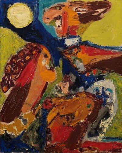 Asger Jorn, 'Trois personnages qui regardent la lune', 1959