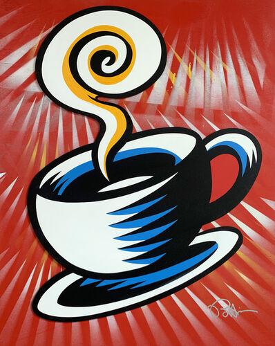 Burton Morris, 'Friends - Coffee Cup (Red 1)', 2019