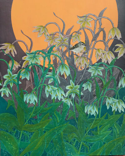 Julia Lucey, 'Golden-Crowned Kinglet in Fritillary', 2018