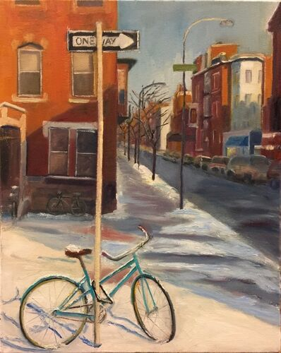 Bhavisha Patel, 'Bicycles in Snow: Delancy Street', 2018