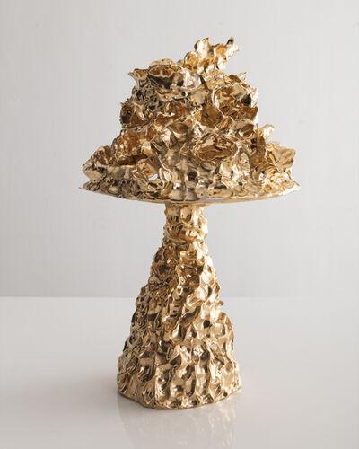 Katie Stout, 'Unique table lamp in gold ceramic', 2018