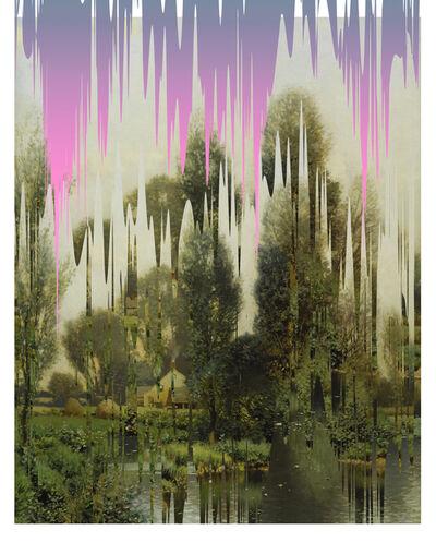 Ciler, 'Ejercicio de distorsión sobre paisaje', 2019