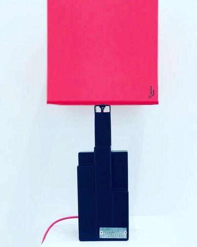 "Christophe Belliardo, 'Lamp ""Mini Building"" - Black & Square pink lampshade ', 2019"
