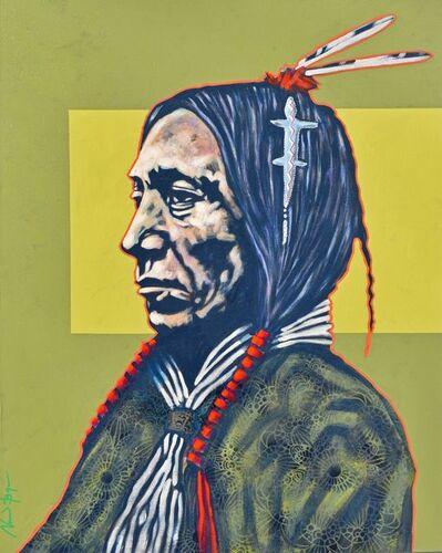 """Nocona Burgess, '""""Cheyenne with Amulet""""', 2018"""