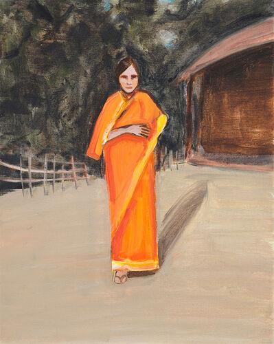 Matthew Krishanu, 'Orange Sari and Hut', 2016