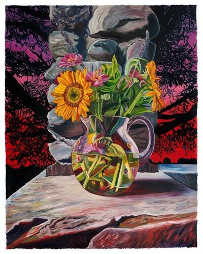 Julia Whitney Barnes, 'Autumn Sunflowers/Domestic Bliss', 2017