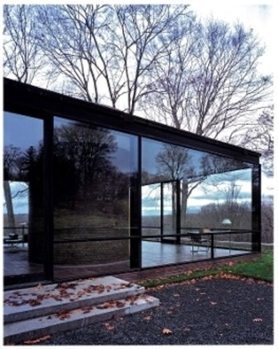 "Julius Shulman, '""The Glass House."" Julius Shulman & Juergen Nogai. Philip Johnson, Architect. New Canaan, Connecticut. Signed by both Julius Shulman and Juergen Nogai ', 2006"