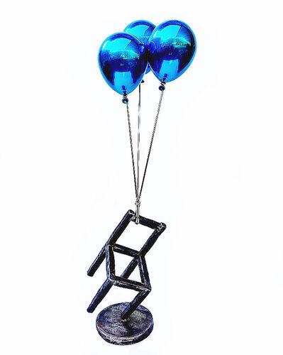 Jeon Kang Ok, 'Blue Balloons & Stool', 2019