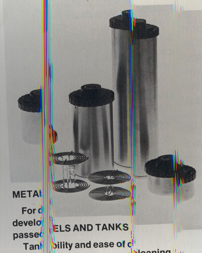 Sara Cwynar, 'Metals and Tanks (Darkroom Manual)', 2013; printed 2019
