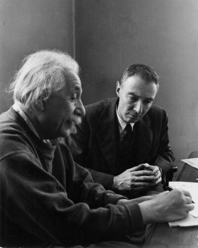 Alfred Eisenstaedt, 'Einstein and Oppenheimer', 1947