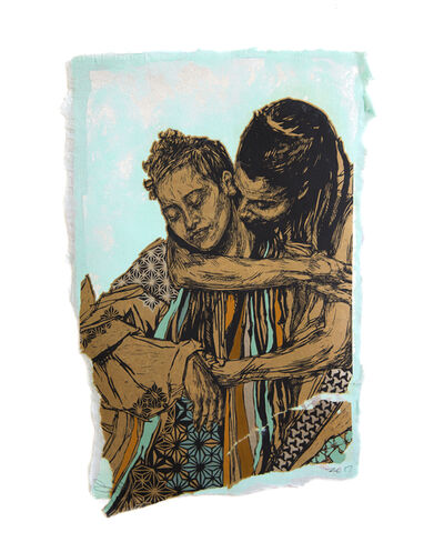 Swoon, 'Alixa and Naima', 2016