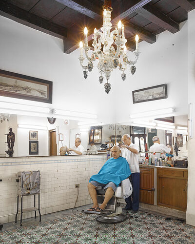David Burdeny, 'Barber, Havana, Cuba', 2014