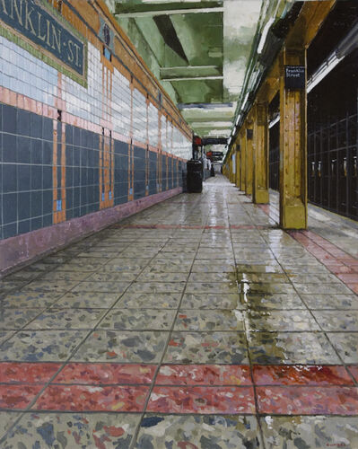 Richard Combes, 'Downtown Platform Franklin St. Subway', 2018