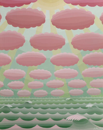 Amy Lincoln, 'Seascape with Cloud Rows', 2020