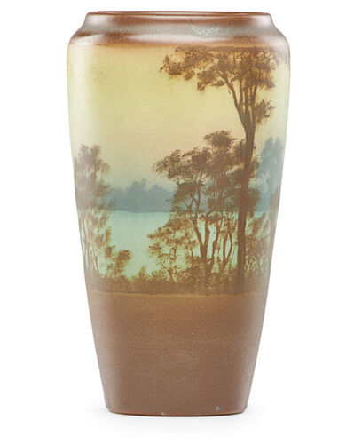 Rookwood Pottery, 'Banded Scenic Vellum vase', 1910