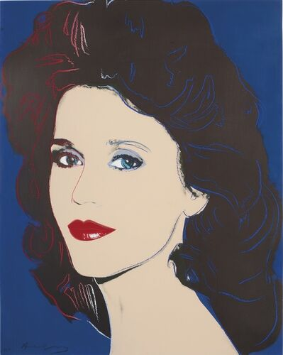 Andy Warhol, 'Jane Fonda II.268 double signed', 1982