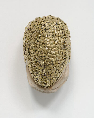 Allison Janae Hamilton, 'Gold Fencing Mask', 2019