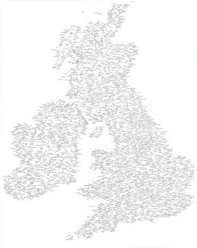 Kim Rugg, 'British Isles', 2014