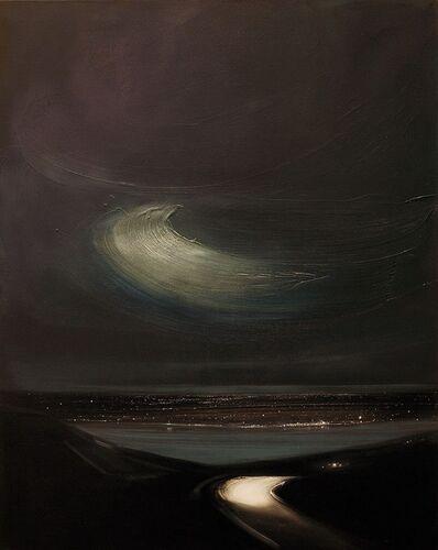 Sigrid Nienstedt, 'Strasse zum See bei Nacht', 2018
