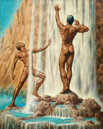 George Quaintance, 'Rainbow Falls', 1954