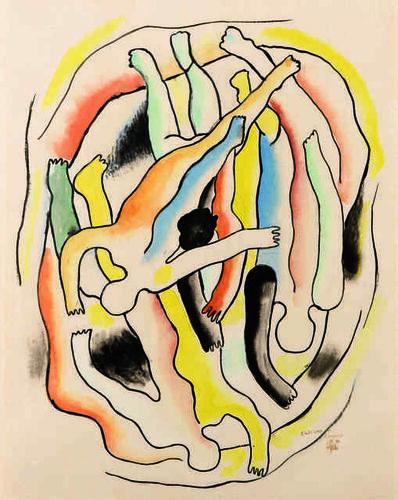 Fernand Léger, 'Etude pour les plongeurs', 1941