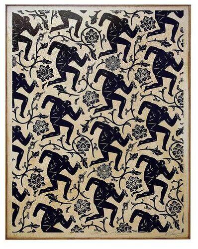 Cleon Peterson & Shepard Fairey, 'Pattern of Corruption (Black & White)', 2015