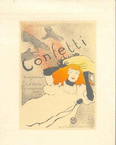 Henri de Toulouse-Lautrec, 'Confetti (After H. de Toulouse-Lautrec)', 1951