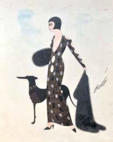 Erté (Romain de Tirtoff), 'Femme au lévrier'