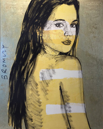 David Bromley, 'Yellow girl with gold leafing & white stripes Was $ 16,000 Now $8,000 ', 2019