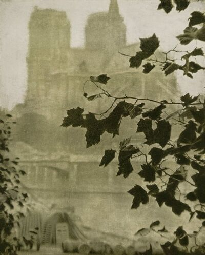 Alvin Langdon Coburn, 'Portrait of Auguste Rodin and Notre Dame (two works)', 1906 (each)-printed later