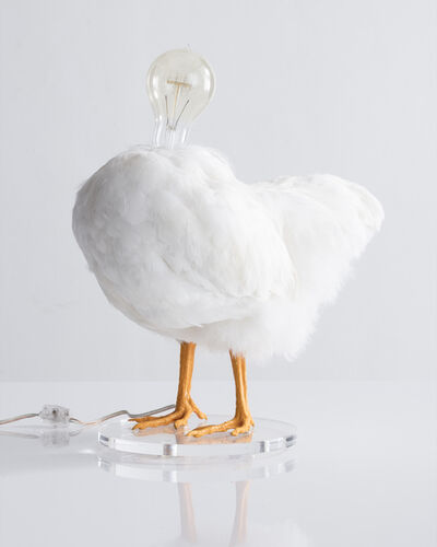 Sebastian Errazuriz, 'Chicken Lamp. Taxidermy chicken and electrical components', 2018