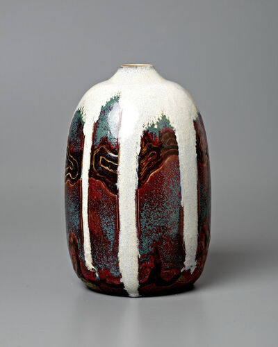 Raoul Lachenal, 'Japonist Landscape Vase', 1904