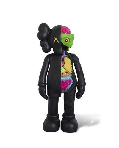 KAWS, '4 Foot Dissected Companion (Black)', 2009