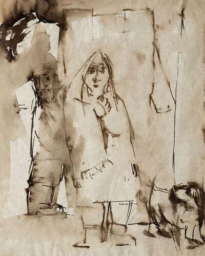 Josef Herman RA, 'Couple (from 'A Memory of Memories')', 1940-1943