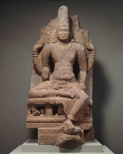 Unknown Indian, 'Enthroned Vishnu', second half of the 8th–early 9th century