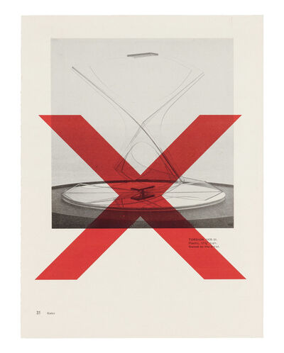 Wade Guyton, 'Untitled Printer Drawing (Gabo p 31)', 2003