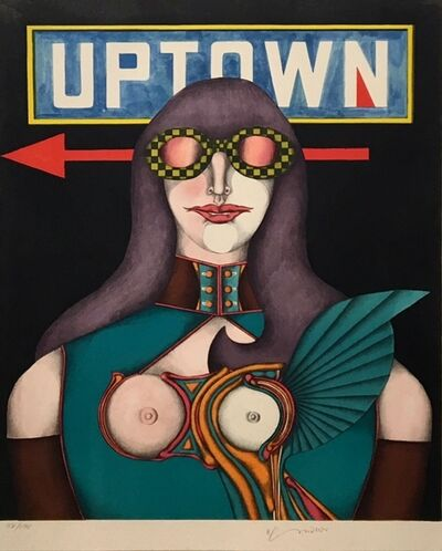 Richard Lindner, 'Uptown (from Fun City)', 1971