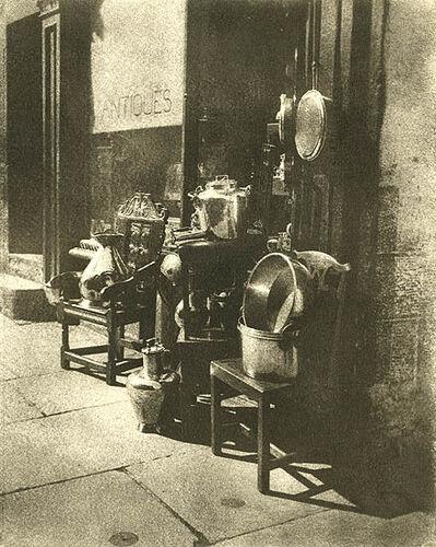 A. W. Hill, 'Antiques, An Edinburgh Shop Door', 1920s